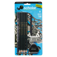 Prismacolor 1774264 Scholar Dark Green Woodcase Barrel 2mm 9 Assorted Lead Pencils