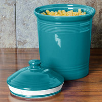 Homer Laughlin 573107 Fiesta Turquoise Large 3 Qt. Canister with Cover - 2/Case
