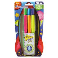 Mr. Sketch 1947292 Scented Stix Assorted 6-Color Fine Tip Neon Intergalactic Marker - 6/Set