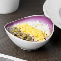 Schonwald 9395709-70286 Grace 1.5 oz. Plum / Continental White Porcelain Dip Dish - 12/Case