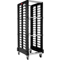 Rubbermaid FG332000BLA ProServe 18 Pan End Load Max System Black Bun / Sheet Pan Rack - Unassembled