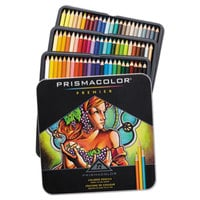 Prismacolor 3599TN Premier 72 Assorted Woodcase Barrel 0.7mm 2H Soft Lead #4 Colored Pencils