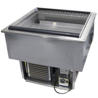 Delfield N8131-FA Two Pan Drop In Forced Air Refrigerated Cold Food Well