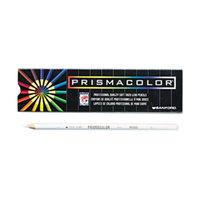 Prismacolor 3365 Premier White Woodcase Barrel 3mm Soft Lead White Colored Pencil - 12/Pack
