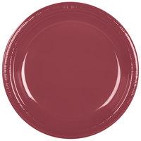 Creative Converting 28312231 10 inch Burgundy Plastic Plate - 240/Case