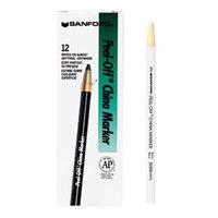 Sharpie 2060 Peel-Off White China Marker   - 12/Pack