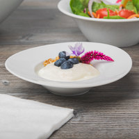 Schonwald 9390116 Grace 2.75 oz. Continental White Rim Deep Porcelain Bowl - 12/Case