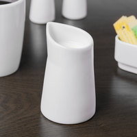 Schonwald 9394615 Grace 5 oz. Continental White Porcelain Creamer - 12/Case