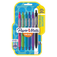 Paper Mate 1945916 InkJoy 300 RT Assorted Ink with Assorted Barrel Color 1mm Retractable Ballpoint Pen   - 6/Pack