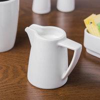 Schonwald 9304715 Event 5 oz. Continental White Porcelain Creamer - 12/Case