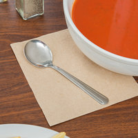 Choice Windsor 5 7/8 inch 18/0 Stainless Steel Bouillon Spoon - 12/Case