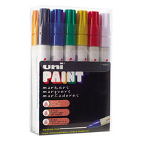 Uni-Paint Markers 63631 12 Assorted Medium Point Markers
