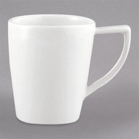 Schonwald 9195175 Avanti Gusto 8.5 oz. Continental White Porcelain Cup - 6/Case