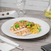 Schonwald 9190031 Avanti Gusto 12 1/4 inch Continental White Porcelain Plate - 6/Case
