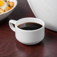 Schonwald 9195109 Avanti Gusto 3 oz. Continental White Porcelain Espresso Cup - 12/Case