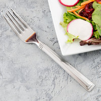 World Tableware 977 038 Slate 7 1/8 inch 18/0 Stainless Steel Heavy Weight Salad Fork - 36/Case