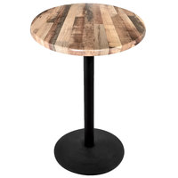 Holland Bar Stool OD214-2242BWOD30RRustic 30 inch Round Rustic Wood Laminate Outdoor / Indoor Bar Height Table with Round Base