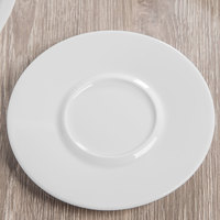 Schonwald 9306918 Event 6 1/8 inch Continental White Porcelain Saucer - 12/Case