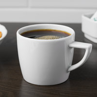 Schonwald 9305172 Event 7.5 oz. Continental White Porcelain Cup - 12/Case