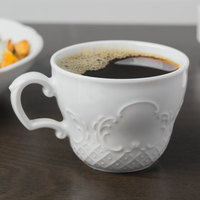 Schonwald 9065170 Marquis 6.75 oz. Continental White Porcelain Cup   - 12/Case