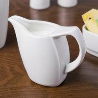 Schonwald 9194715 Avanti Gusto 5 oz. Continental White Porcelain Creamer - 12/Case