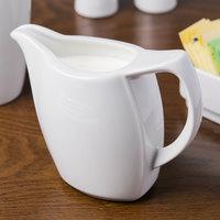 Schonwald 9194730 Avanti Gusto 10 oz. Continental White Porcelain Creamer - 6/Case