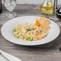 Schonwald 9190128 Avanti Gusto 15.25 oz. Continental White Porcelain Pasta Bowl - 6/Case