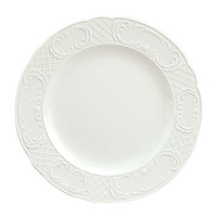 Schonwald 9060028 Marquis 11 1/8 inch Continental White Porcelain Plate - 6/Case