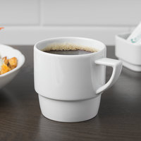Schonwald 9305125 Event 8.5 oz. Continental White Porcelain Stackable Mug - 12/Case