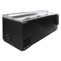 Beverage-Air DW94-B-02 95 inch Black Deep Well Bottle Cooler with Stainless Steel Interior