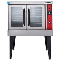 Vulcan VC4EDG Single Deck Full Size Electric Convection Oven with Solid State Controls and Legs - 480V, 12.5 kW
