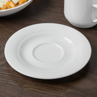 Schonwald 9196918 Avanti Gusto 6 1/4 inch Continental White Porcelain Saucer - 12/Case