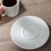 Schonwald 9306909 Event 5 1/4 inch Continental White Porcelain Saucer - 12/Case