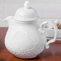 Schonwald 9064365 Marquis 22 oz. Continental White Porcelain Teapot   - 6/Case