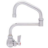 Fisher 19933 Backsplash Mounted Faucet with 13 inch Double-Jointed Swing Nozzle, 2.2 GPM Aerator, and Lever Handle