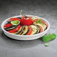 Villeroy & Boch 13-6021-3027 Cooking Elements 6 1/2 inch White Porcelain Round Serving Dish / Lid - 6/Case