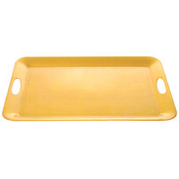 Thunder Group RF2920G 19 inch x 14 inch Gold Pearl Rectangular Tray - 3/Pack