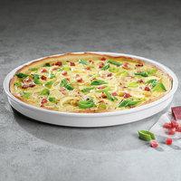 Villeroy & Boch 13-6021-3025 Cooking Elements 11 3/4 inch White Porcelain Round Serving Plate / Lid - 6/Case