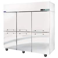 Nor-Lake NR806SSS/0X Nova 82 1/2 inch Solid Half Door Reach-In Refrigerator - 79.9 Cu. Ft.