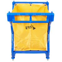 Lavex Lodging Commercial Laundry Cart/Trash Cart, 10 Bushel Folding Plastic Frame and Vinyl Bag