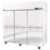 Nor-Lake NR806SSS/0 Nova 82 1/2 inch Solid Half Door Reach-In Refrigerator - 79.9 Cu. Ft.