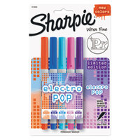 Sharpie 1919848 Electro Pop Assorted Colors Ultra-Fine Permanent Marker - 5/Pack
