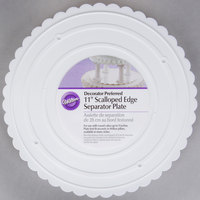 Wilton 302-11 Decorator Preferred Round Scalloped Edge Cake Separator Plate - 11 inch