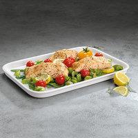 Villeroy & Boch 13-6021-3015 Cooking Elements 14 inch x 10 1/4 inch White Porcelain Rectangular Serving Plate / Lid - 6/Case