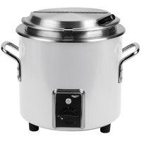 Vollrath 7217250 Pearl White Finish Retro 11 Qt. Stock Pot Kettle Rethermalizer - 120V, 1450W