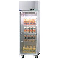Nor-Lake NR242SSG/0X Nova 27 1/2 inch Glass Half Door Reach-In Refrigerator - 24.1 Cu. Ft.