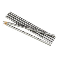 Prismacolor 2460 Verithin Metallic Silver Barrel 2mm Metallic Silver Colored Pencil - 12/Pack