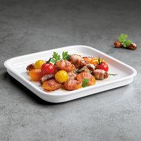 Villeroy & Boch 13-6021-3030 Cooking Elements 8 1/2 inch x 8 1/2 inch White Porcelain Square Serving Dish / Lid - 6/Case