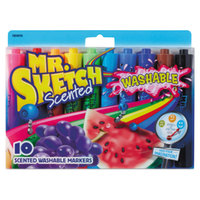 Mr. Sketch 1924010 10 Assorted Chisel Tip Washable Markers