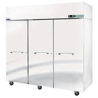 Nor-Lake NR803SSS/0X Nova 82 1/2 inch Solid Door Reach-In Refrigerator - 79.9 Cu. Ft.